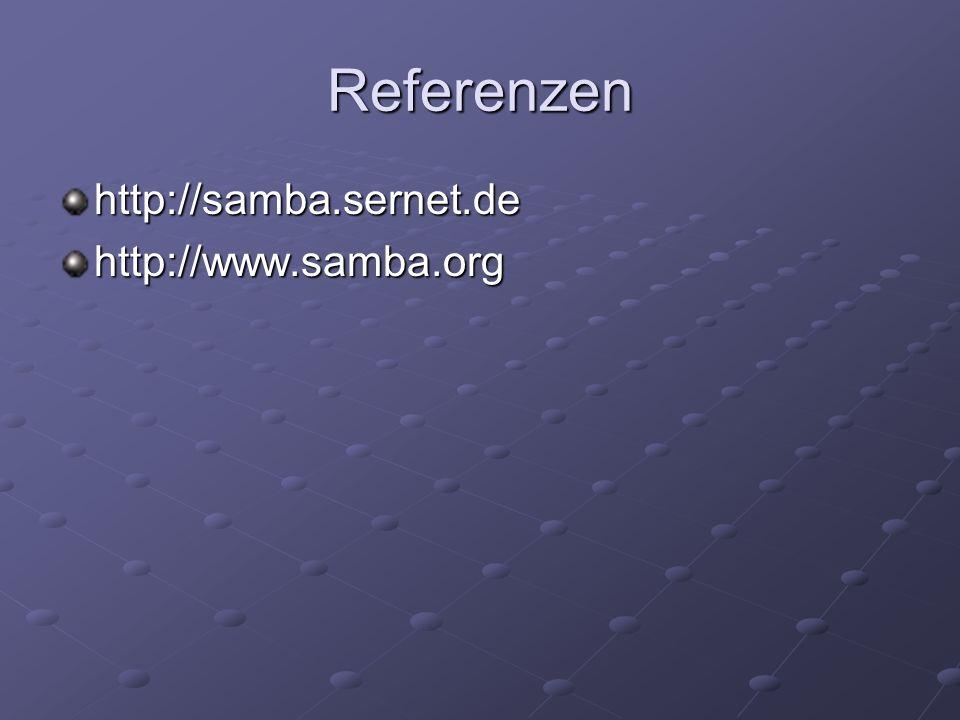 Referenzen http://samba.sernet.dehttp://www.samba.org