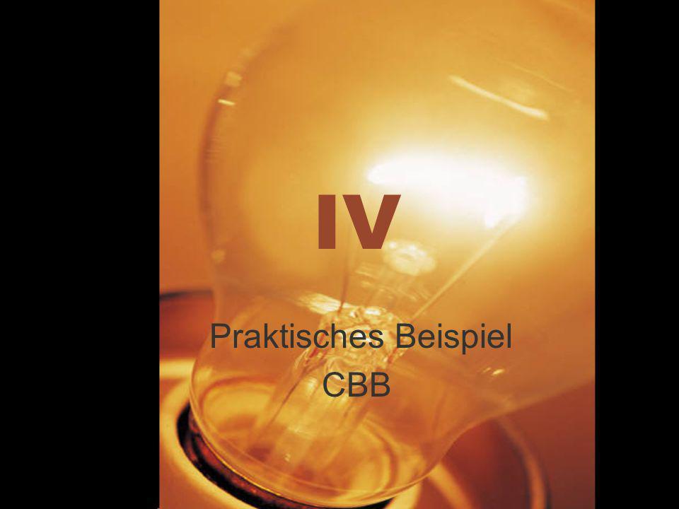 IV Praktisches Beispiel CBB