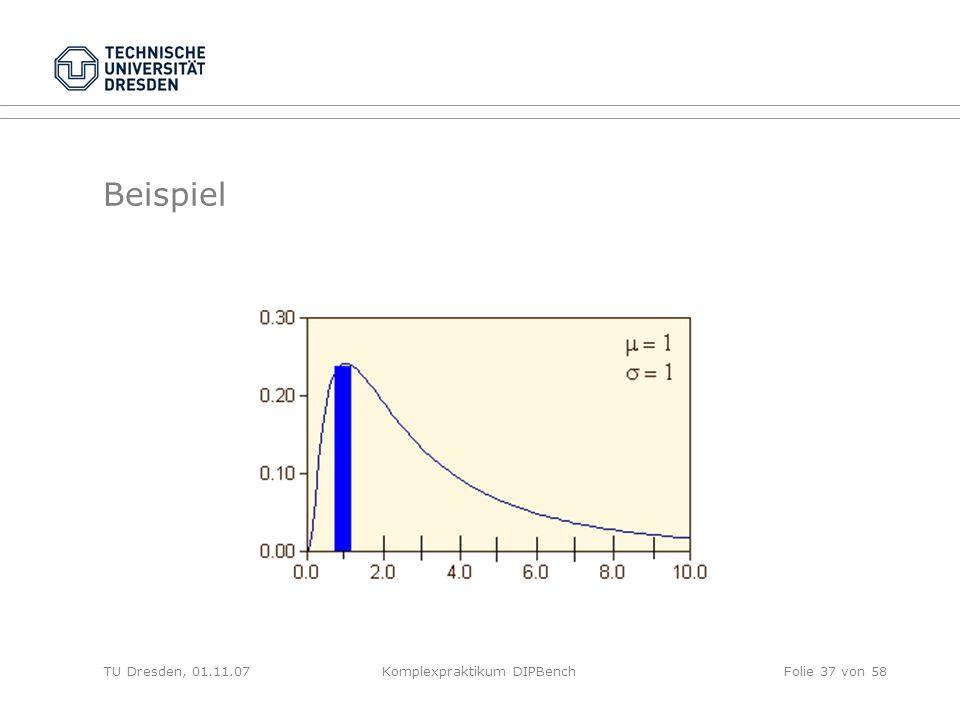 TU Dresden, 01.11.07Komplexpraktikum DIPBenchFolie 37 von 58 Beispiel