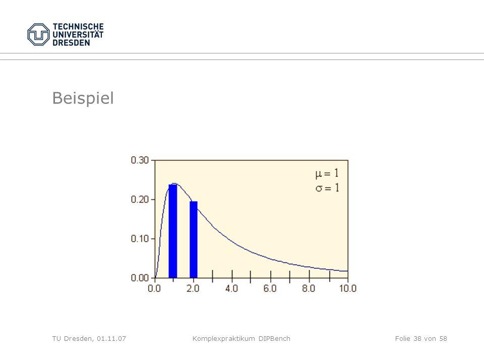 TU Dresden, 01.11.07Komplexpraktikum DIPBenchFolie 38 von 58 Beispiel
