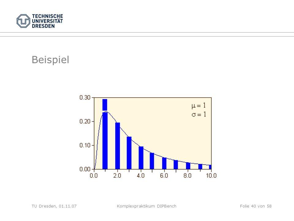 TU Dresden, 01.11.07Komplexpraktikum DIPBenchFolie 40 von 58 Beispiel