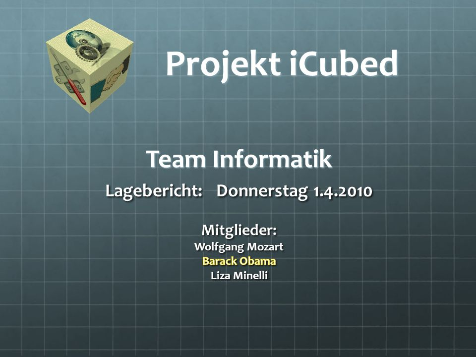 Team Informatik Projekt iCubed