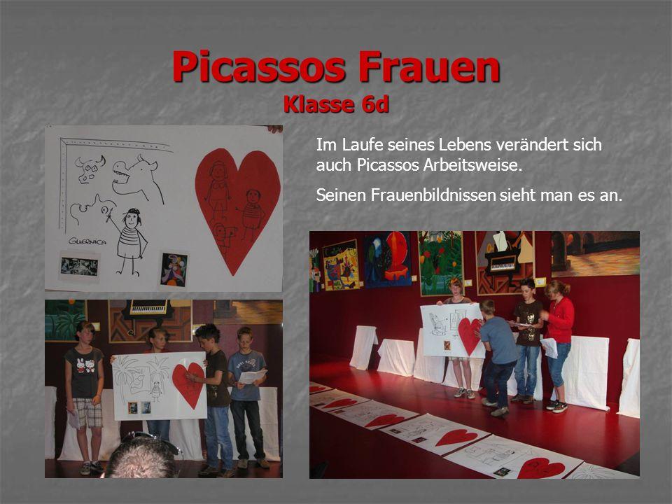 Picassos Frauen Klasse 6d Im Laufe seines Lebens verändert sich auch Picassos Arbeitsweise.