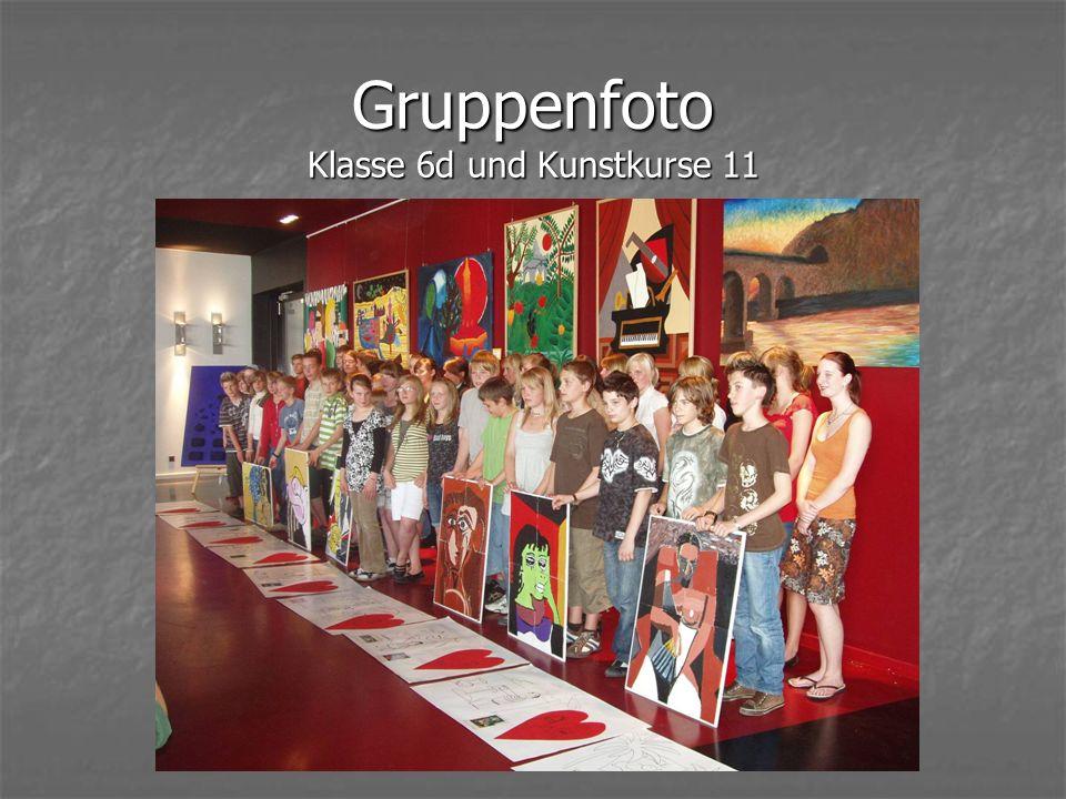 Gruppenfoto Klasse 6d und Kunstkurse 11