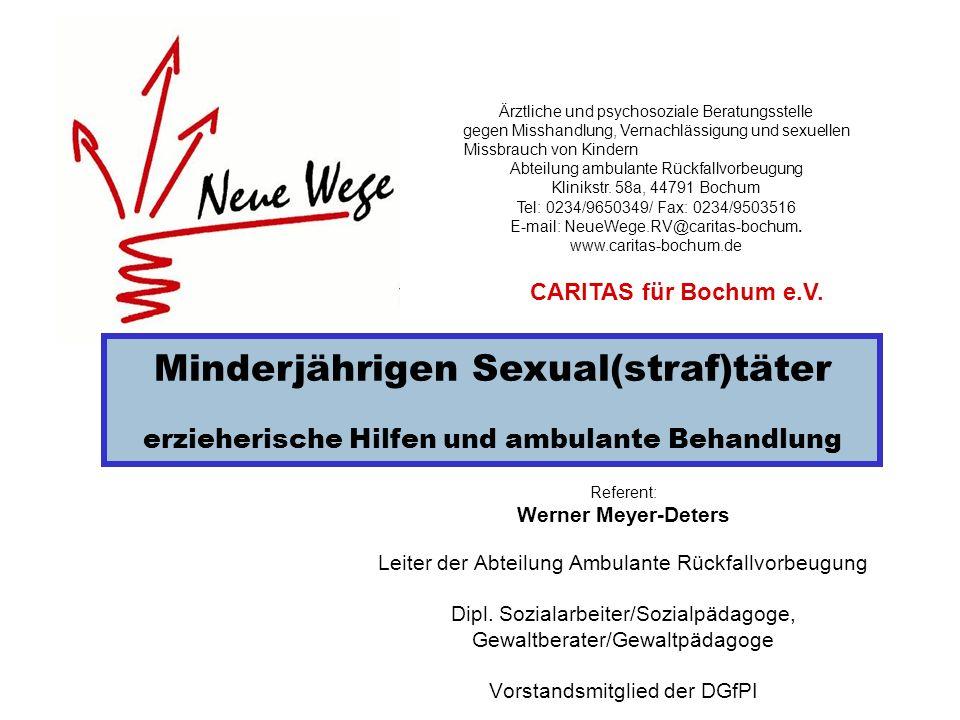 Referent: Werner Meyer-Deters Leiter der Abteilung Ambulante Rückfallvorbeugung Dipl. Sozialarbeiter/Sozialpädagoge, Gewaltberater/Gewaltpädagoge Vors