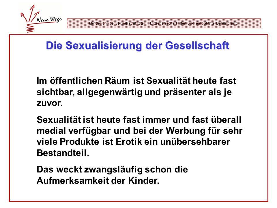Minderjährige Sexual(straf)täter - Erzieherische Hilfen und ambulante Behandlung Die Sexualisierung der Gesellschaft Im öffentlichen Räum ist Sexualit