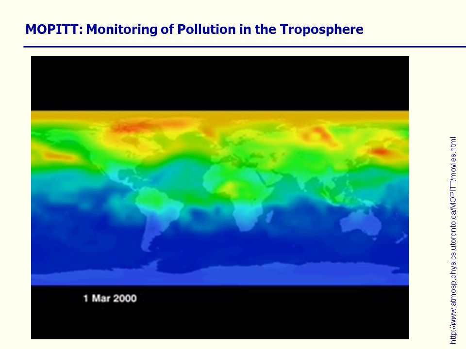 MOPITT: Monitoring of Pollution in the Troposphere http://www.atmosp.physics.utoronto.ca/MOPITT/movies.html