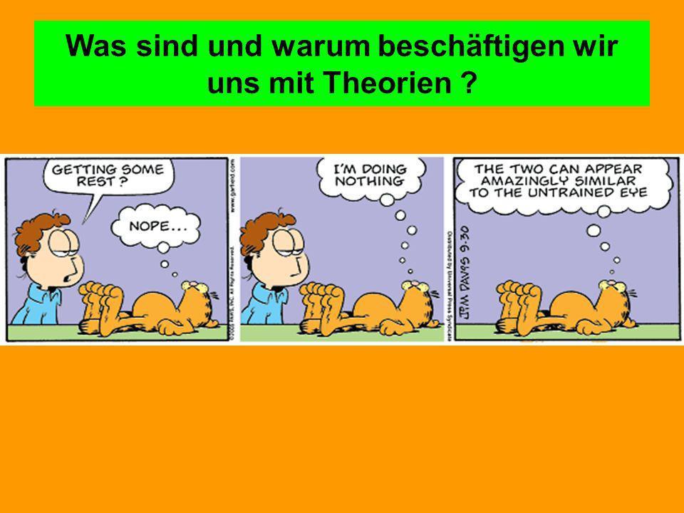 Was sind und warum beschäftigen wir uns mit Theorien ?