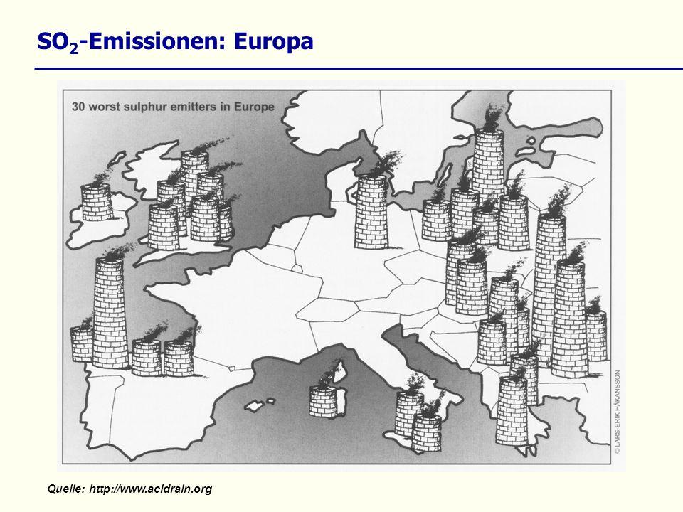 SO 2 -Emissionen: Europa Quelle: http://www.acidrain.org