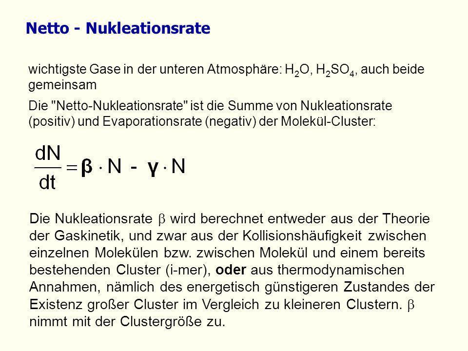 wichtigste Gase in der unteren Atmosphäre: H 2 O, H 2 SO 4, auch beide gemeinsam Die