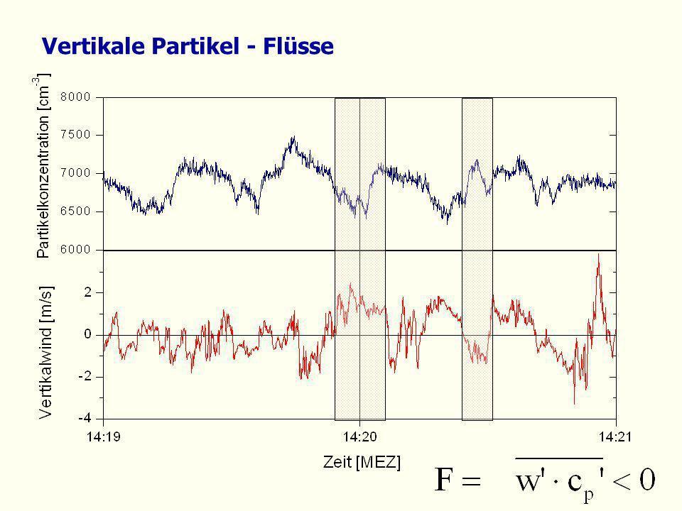 Vertikale Partikel - Flüsse