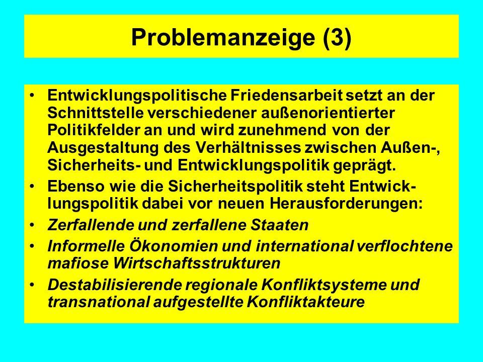 Diskussionskontext: Entwicklungs- politische Megaprojekte Ordnungskriterien: 1) Primäre Ziele 2) Akteure auf Seiten der Industrieländer 3) Schwerpunktpartner / Adressaten 4) Ressourcenbedarf