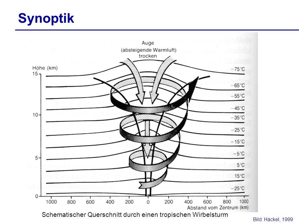 Synoptik Bild: Häckel, 1999 Schematischer Querschnitt durch einen tropischen Wirbelsturm