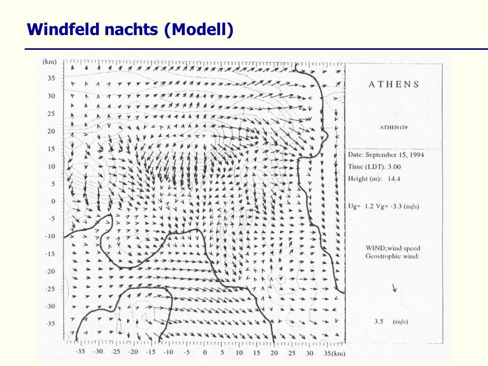 Windfeld nachts (Modell)