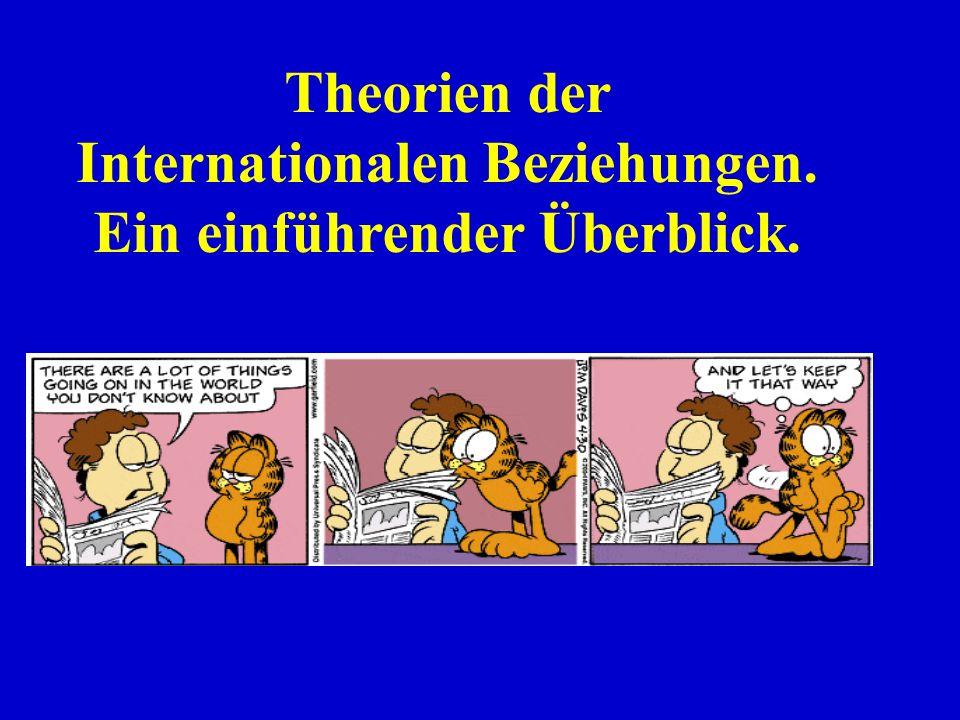 Theorien der Internationalen Beziehungen. Ein einführender Überblick.