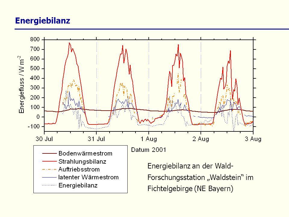 Energiebilanz Energiebilanz an der Wald- Forschungsstation Waldstein im Fichtelgebirge (NE Bayern)