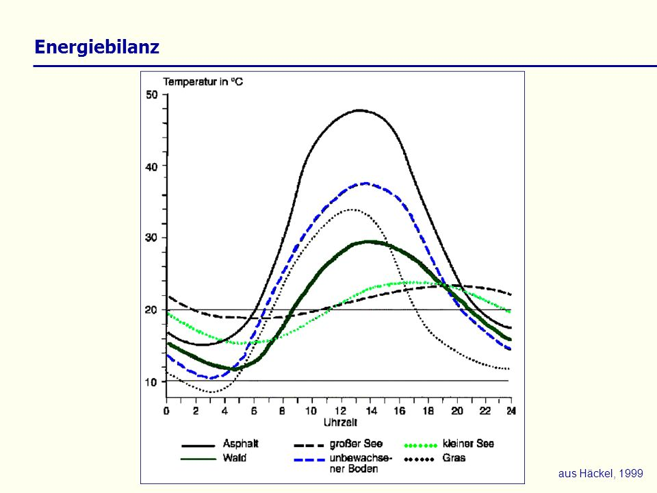 Energiebilanz aus Häckel, 1999