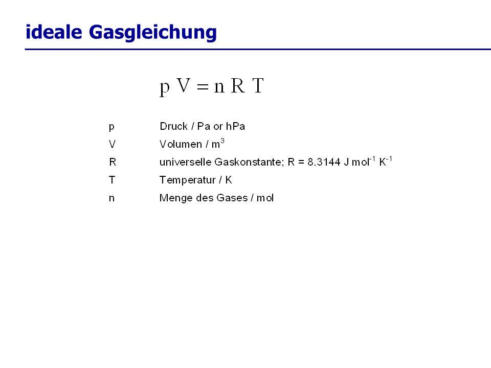 trockenadiabatischer Temperaturgradient: der trockenadiabatische Temperaturgradient ist: aber Vorsicht: wir haben dies hier für den Fall trockener Luft hergeleitet.