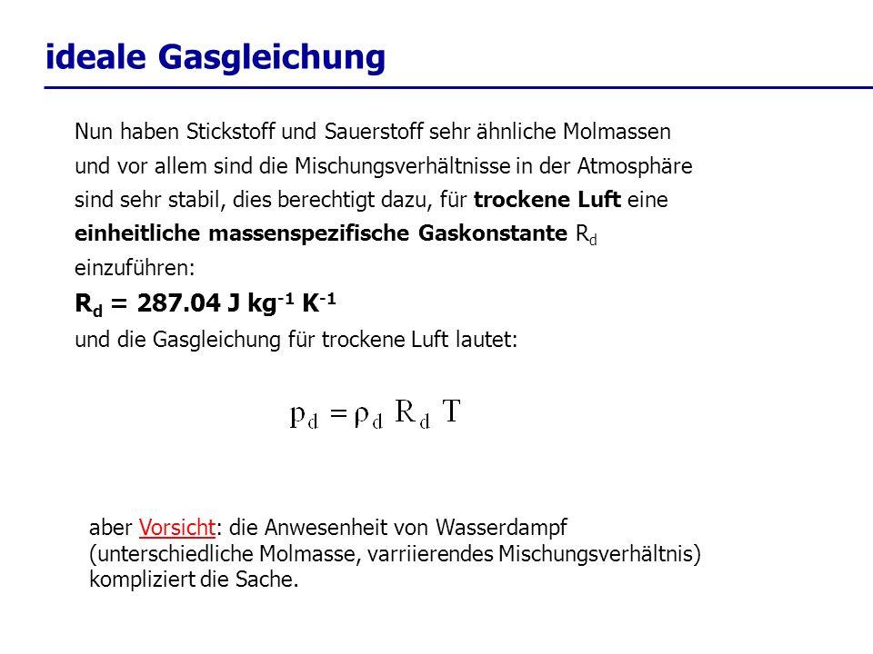 aus der statischen Grundgleichung......und der Gasgleichung für trockene Luft......
