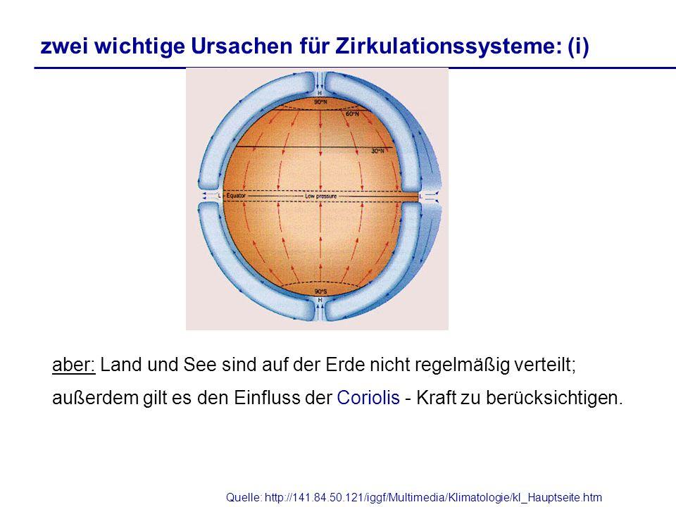 Quelle: http://141.84.50.121/iggf/Multimedia/Klimatologie/kl_Hauptseite.htm aber: Land und See sind auf der Erde nicht regelmäßig verteilt; außerdem g