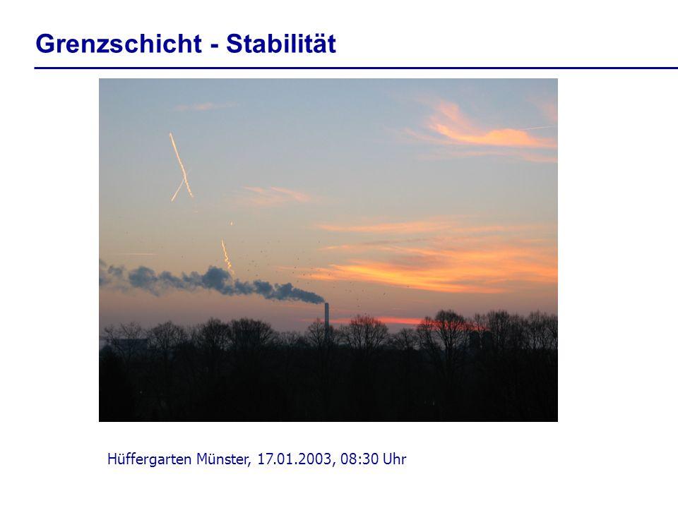 Grenzschicht - Stabilität Hüffergarten Münster, 17.01.2003, 08:30 Uhr