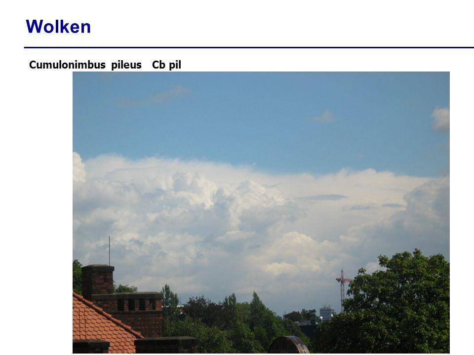 Wolken Cumulonimbus pileus Cb pil