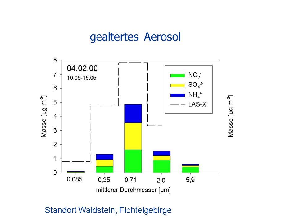 gealtertes Aerosol Standort Waldstein, Fichtelgebirge