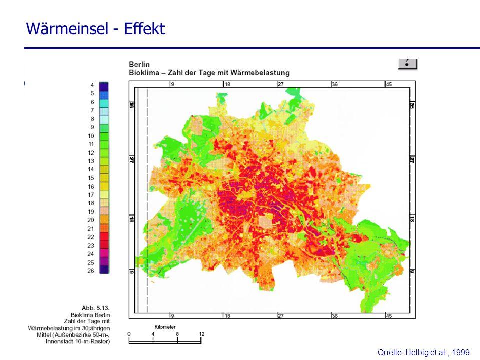 Quelle: Helbig et al., 1999 Wärmeinsel - Effekt