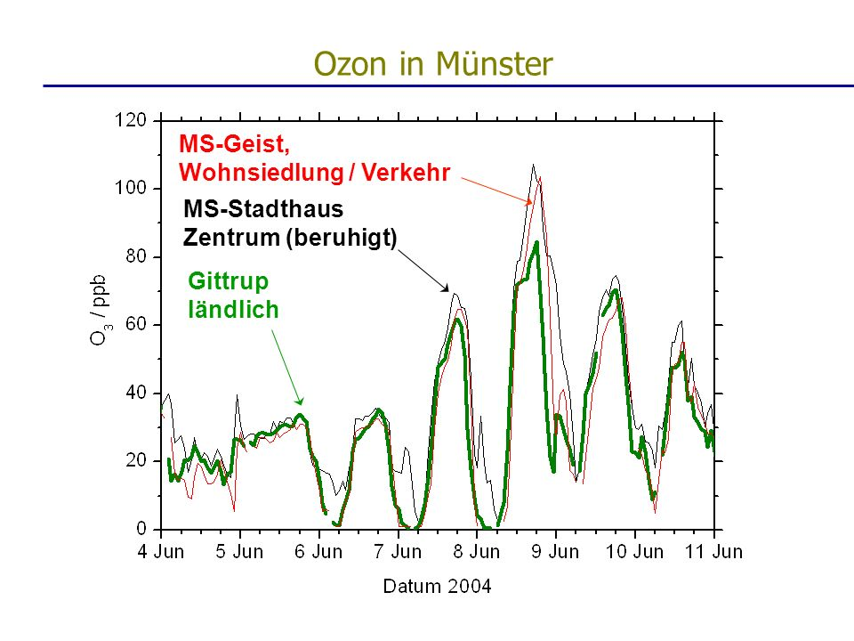 MS-Geist, Wohnsiedlung / Verkehr MS-Stadthaus Zentrum (beruhigt) Gittrup ländlich Ozon in Münster