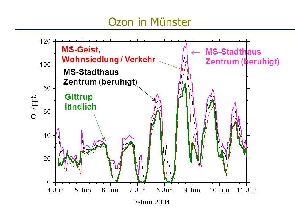 MS-Geist, Wohnsiedlung / Verkehr MS-Stadthaus Zentrum (beruhigt) Gittrup ländlich MS-Stadthaus Zentrum (beruhigt) Ozon in Münster
