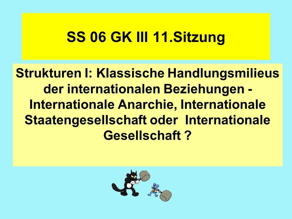 Handlungsmilieus in der Perspektive klassischer IB-Theorien Vgl.