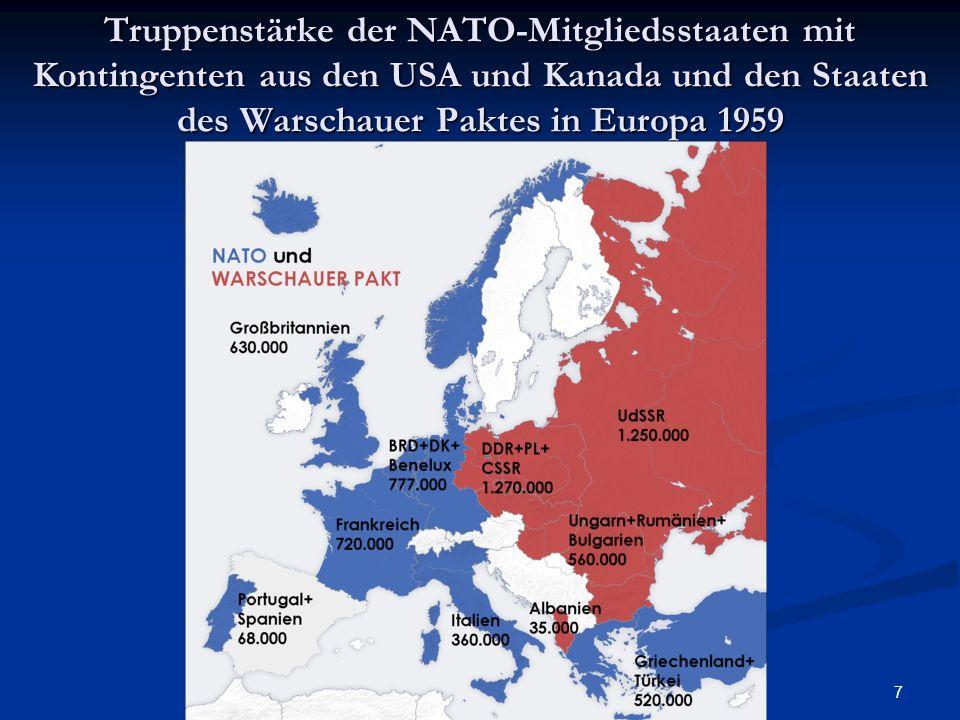 8 Militärbudgets im Vergleich (März 2003) Ausgewählte Staaten Militärausgaben (Mrd.