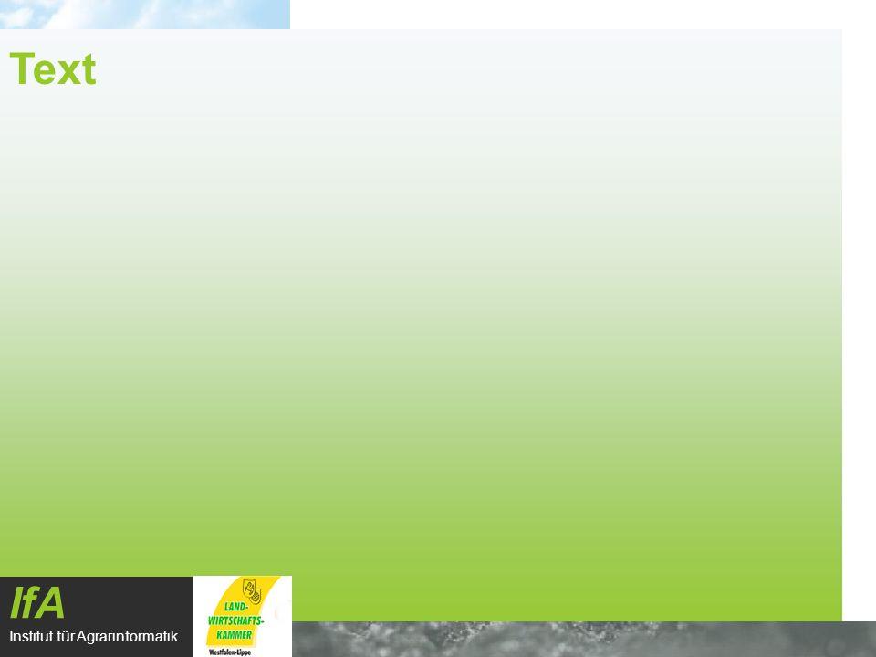 IfA Institut für Agrarinformatik Text