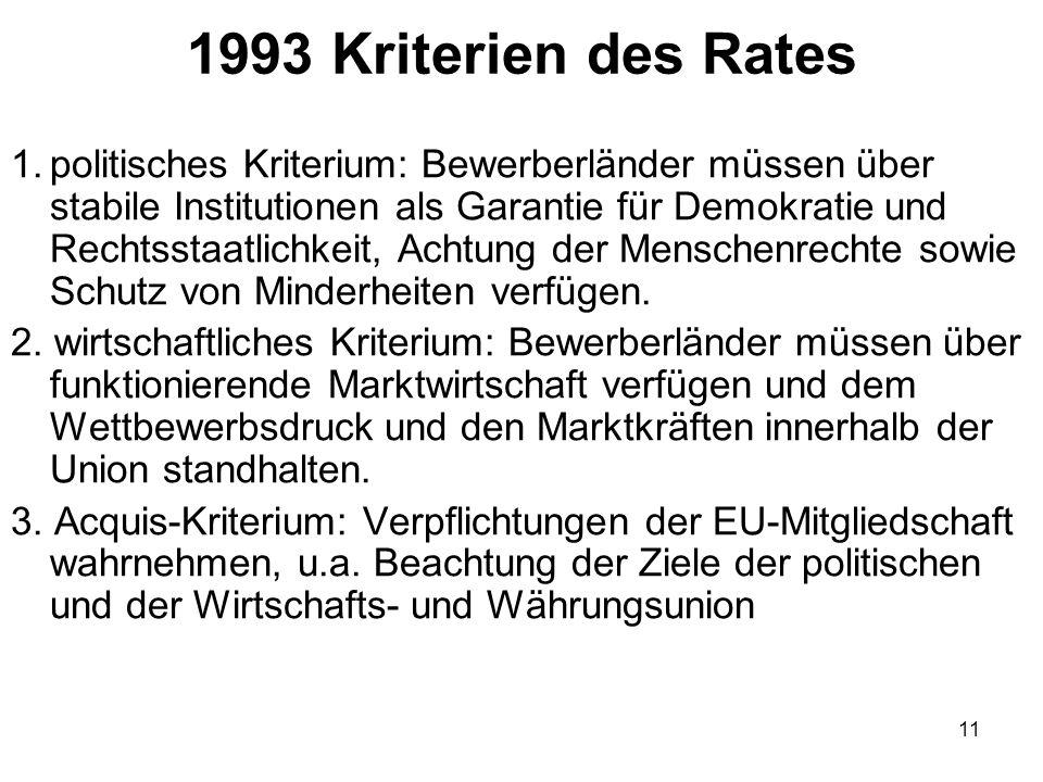 10 Die wichtigsten Schritte der 5.EU-Erweiterung 19.