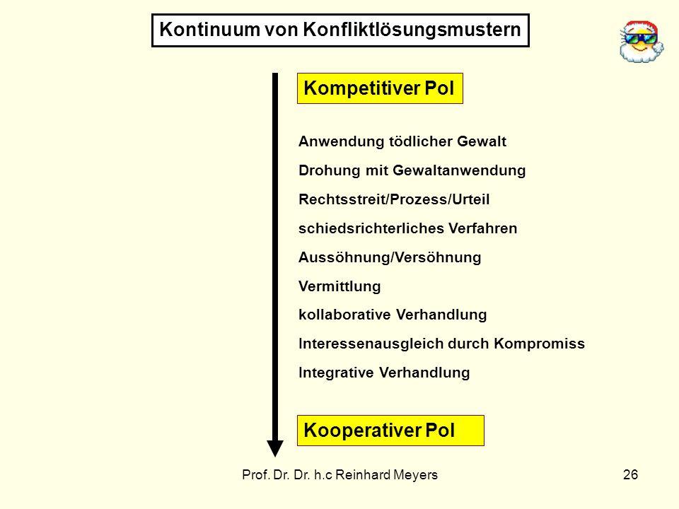 Prof. Dr. Dr. h.c Reinhard Meyers26 Anwendung tödlicher Gewalt Drohung mit Gewaltanwendung Rechtsstreit/Prozess/Urteil schiedsrichterliches Verfahren