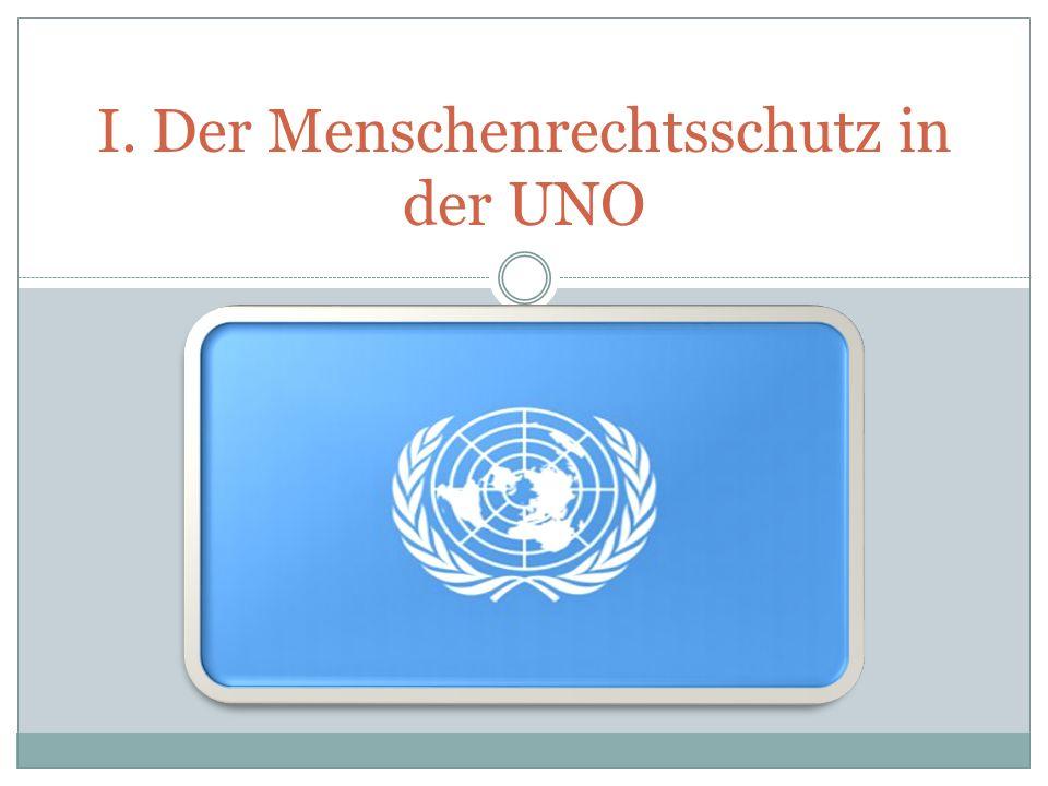 1) Etablierung des UPR Artikel 5 e der UN-Resolution 60/251 (15.03.2006) 5.