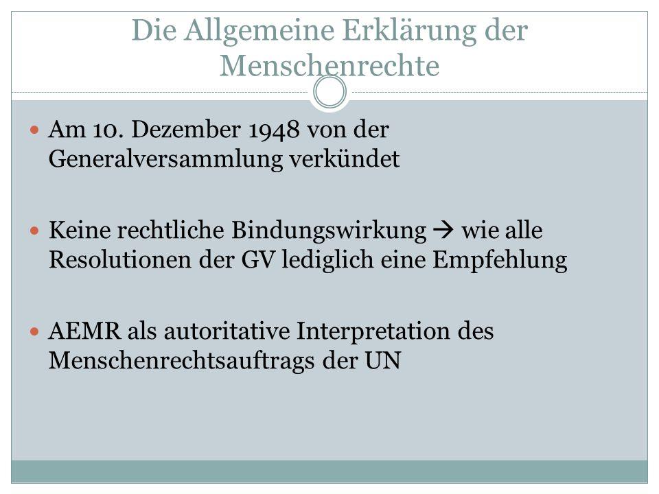 Gliederung 1.Allgemeines 2. Errichtung des UN-Menschenrechtrates 3.