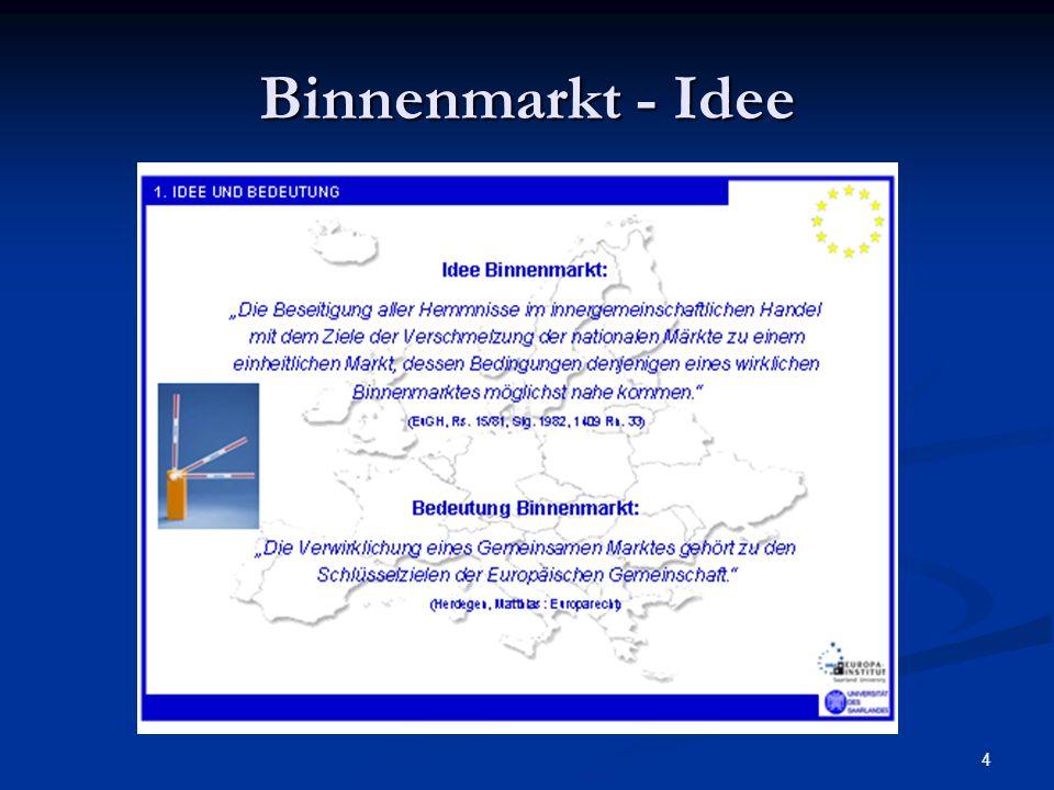 4 Binnenmarkt - Idee