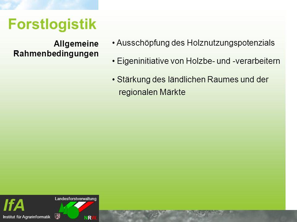 Landesforstverwaltung NRW. IfA Institut für Agrarinformatik Ausschöpfung des Holznutzungspotenzials Eigeninitiative von Holzbe- und -verarbeitern Stär