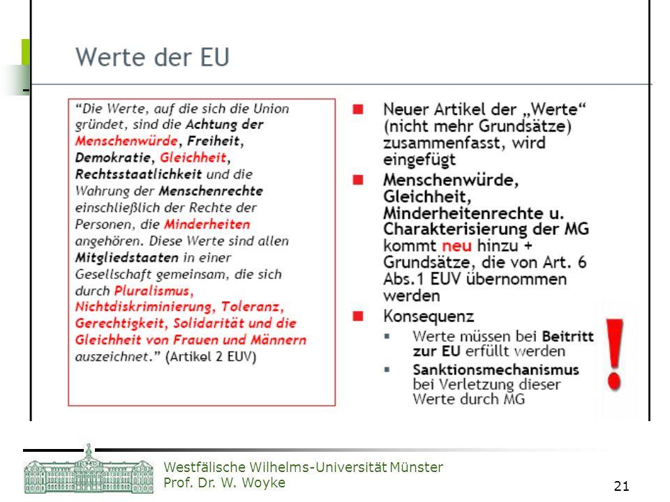Westfälische Wilhelms-Universität Münster Prof. Dr. W. Woyke 21