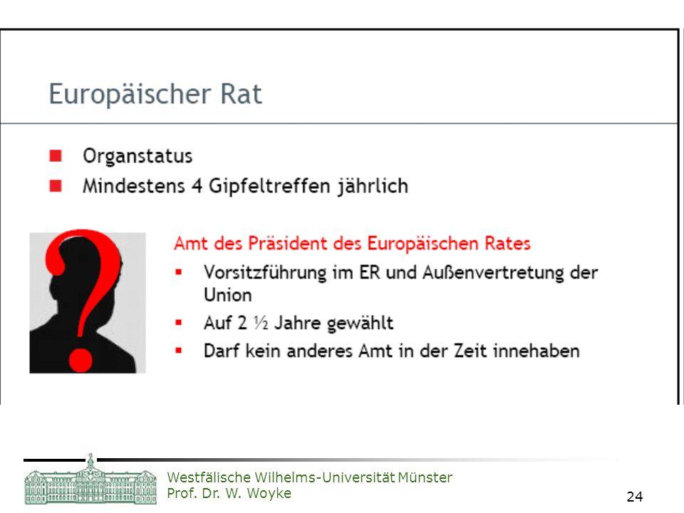 Westfälische Wilhelms-Universität Münster Prof. Dr. W. Woyke 24