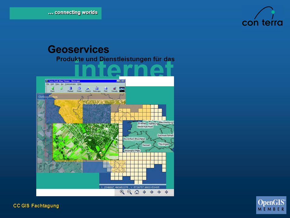 CC GIS Fachtagung... connecting worlds Geoservices internet Produkte und Dienstleistungen für das