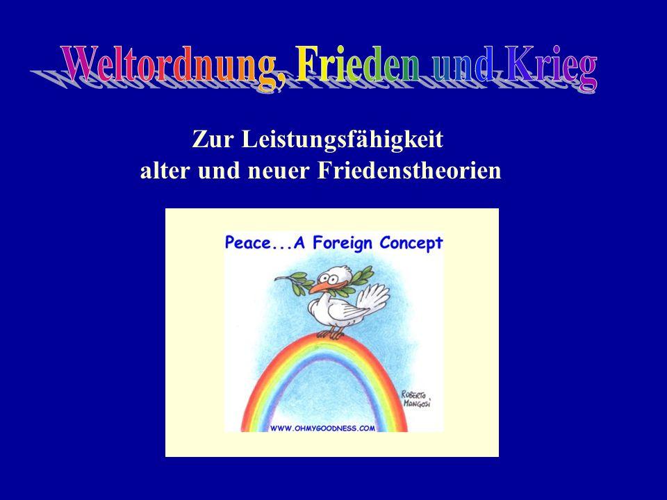 Zur Leistungsfähigkeit alter und neuer Friedenstheorien