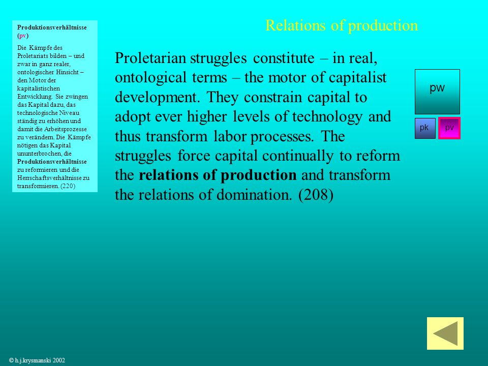 63 Proletarian struggles constitute – in real, ontological terms – the motor of capitalist development. They constrain capital to adopt ever higher le