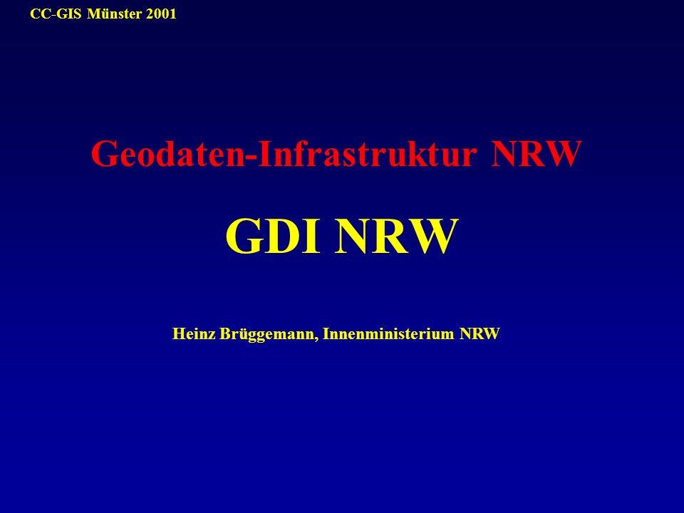 CC-GIS Münster 2001 Geodaten-Infrastruktur NRW GDI NRW Heinz Brüggemann, Innenministerium NRW