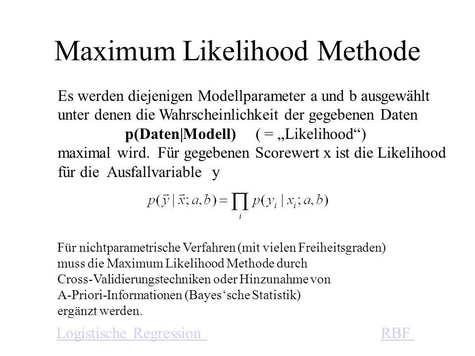 Für nichtparametrische Verfahren (mit vielen Freiheitsgraden) muss die Maximum Likelihood Methode durch Cross-Validierungstechniken oder Hinzunahme vo