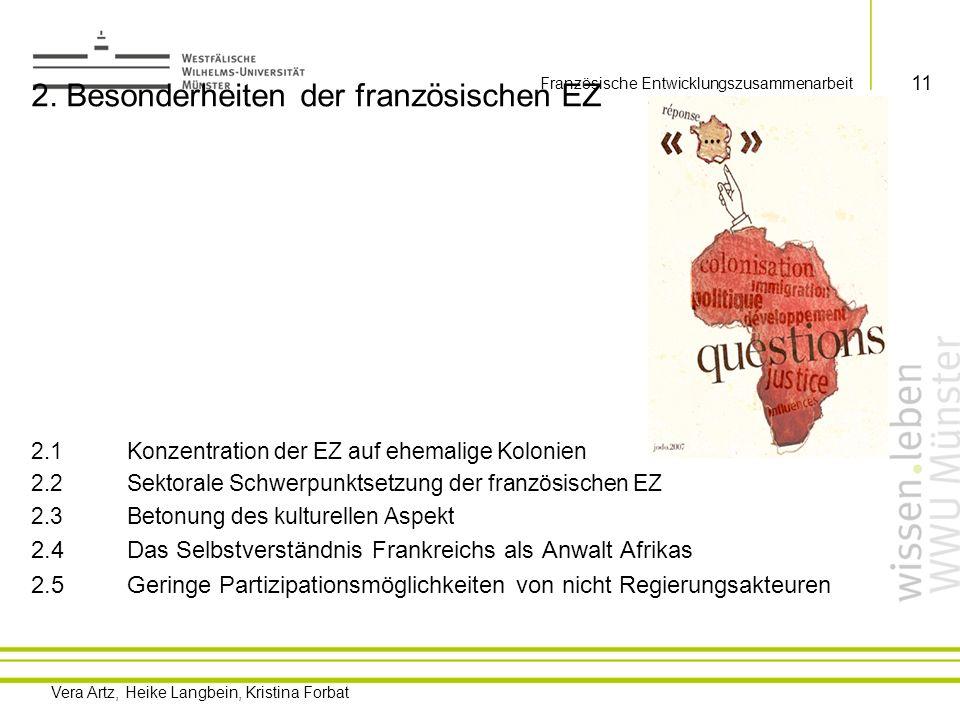 Vera Artz, Heike Langbein, Kristina Forbat Französische Entwicklungszusammenarbeit 12 Französische Kolonien in Afrika