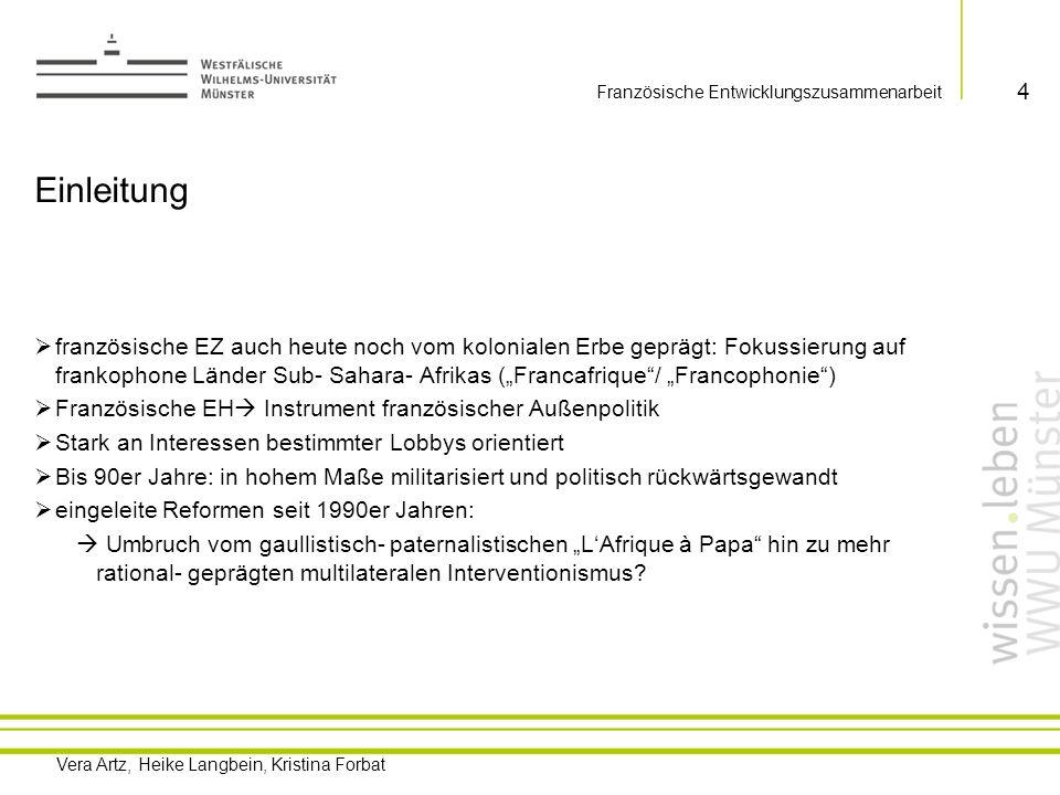 Vera Artz, Heike Langbein, Kristina Forbat Französische Entwicklungszusammenarbeit 1.