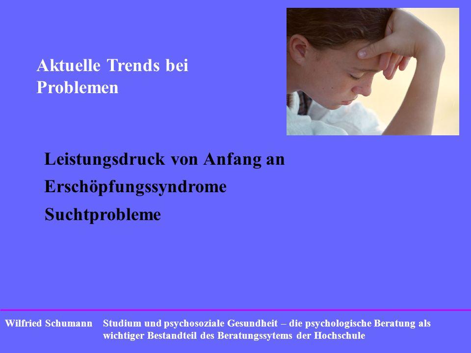 Studium und psychosoziale Gesundheit – die psychologische Beratung als wichtiger Bestandteil des Beratungssytems der Hochschule Wilfried Schumann Aktu