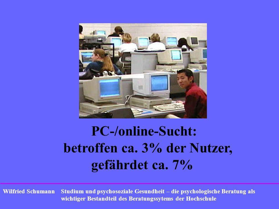 Studium und psychosoziale Gesundheit – die psychologische Beratung als wichtiger Bestandteil des Beratungssytems der Hochschule Wilfried Schumann PC-/